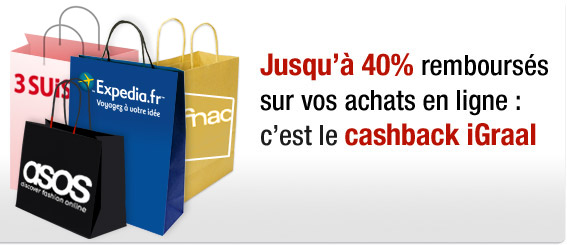 On vous rembourse jusqu'&agrave; 40% sur vos achats en ligne : c'est le cashback iGraal